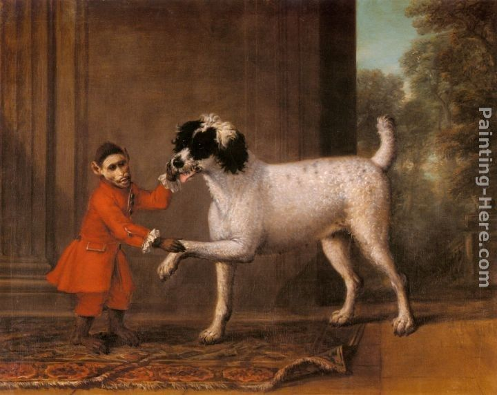 John Wootton A Favorite Poodle And Monkey Belonging To Thomas Osborne, The 4th Duke of Leeds