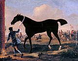 John Wootton The Duke Of Rutland's Bonny Black Held By A Groom At Newmarket painting