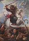 Juan Carreno De Miranda St James the Great in the Battle of Clavijo painting