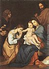 Jusepe de Ribera The Holy Family with St Catherine painting