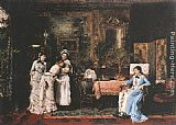 Mihaly Munkacsy Baby's Visitors painting