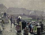 Paul Gustave Fischer Ved Gammel Strand painting