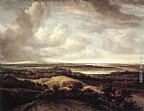Philips Koninck Panorama View of Dunes and a River painting
