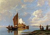 Pieter Christian Dommerson Off Volendam On The Zuiderzee painting