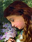 Sophie Gengembre Anderson Girl With Lilac painting