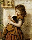 Sophie Gengembre Anderson Her Favorite Pets painting