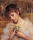 Sophie Gengembre Anderson Love In a Mist painting