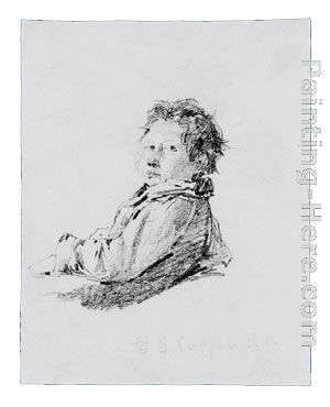 Thomas Sidney Cooper Study of a Boy (from McGuire Scrapbook)