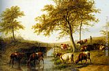 Thomas Sidney Cooper Cattle Resting By A Brook painting