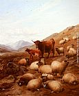 Thomas Sidney Cooper In The Highlands painting
