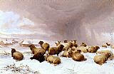 Thomas Sidney Cooper Sheep In Winter painting