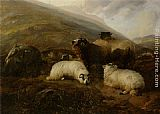 Thomas Sidney Cooper Sheep in the Highlands painting