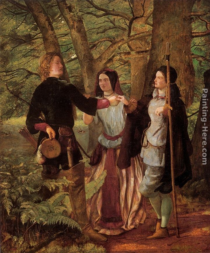Walter Howell Deverell A Scene from As You Like It