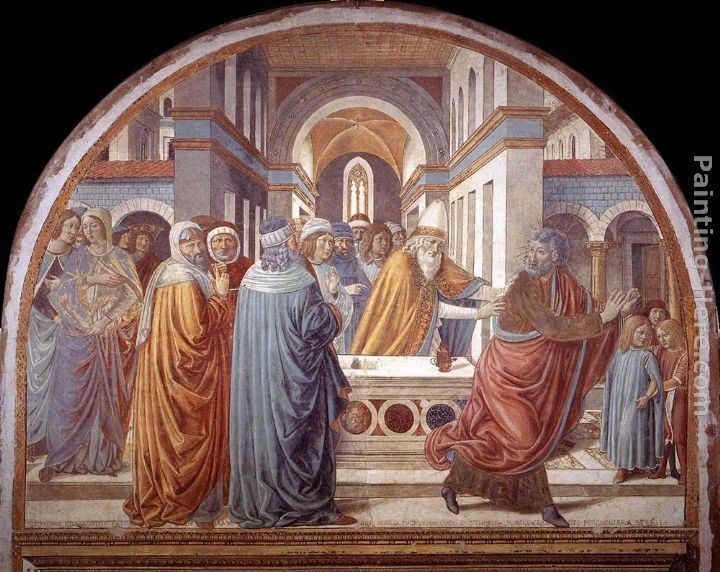 Benozzo di Lese di Sandro Gozzoli Expulsion of Joachim from the Temple
