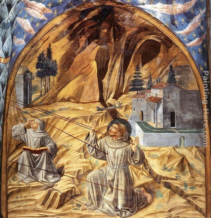 Benozzo di Lese di Sandro Gozzoli Scenes from the Life of St Francis (Scene 11, south wall)