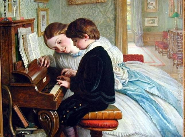 Charles West Cope The Music Lesson