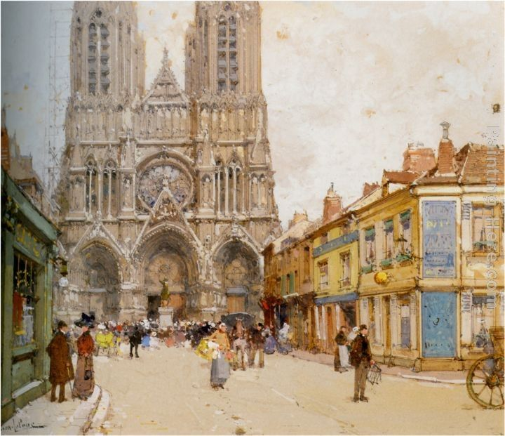 Eugene Galien-Laloue La Cathedrale de Reims