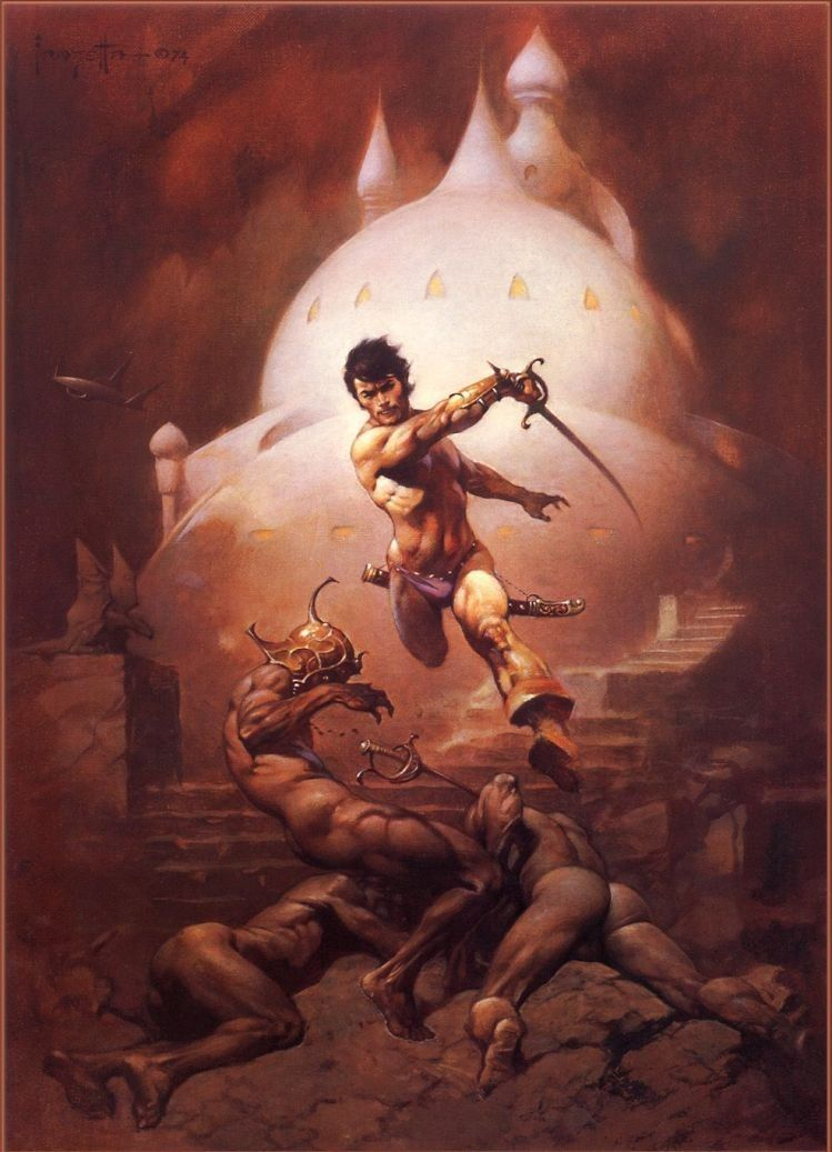 Frank Frazetta Swords of Mars