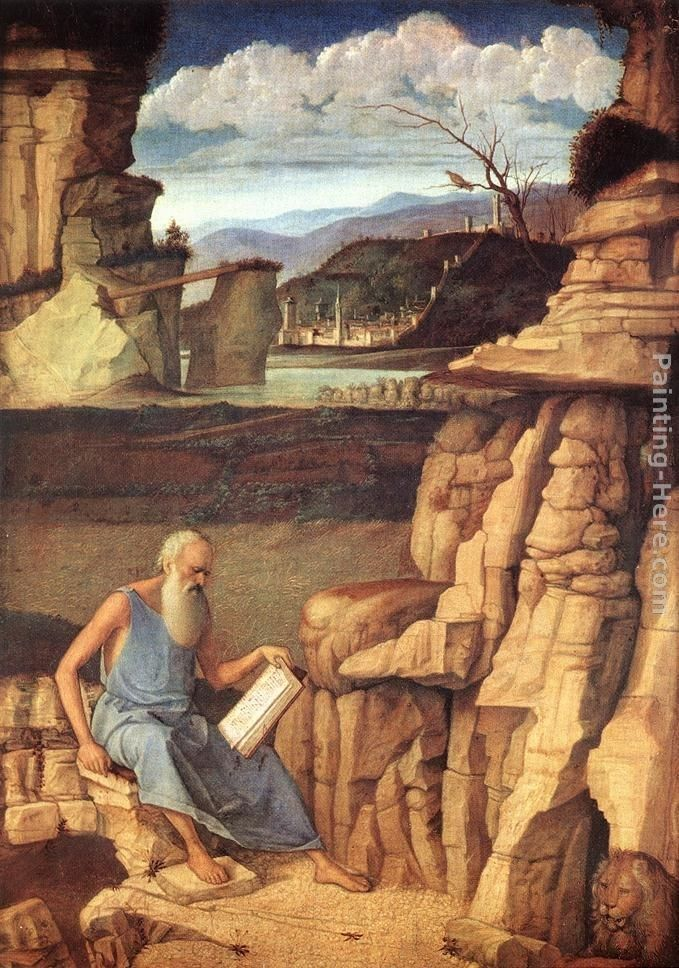 Giovanni Bellini St. Jerome Reading in the Countryside