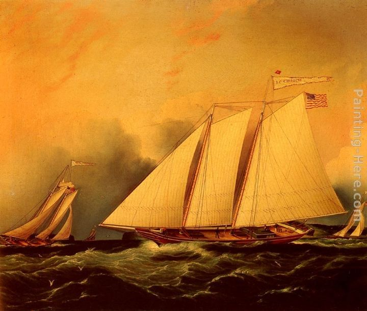 James E. Buttersworth Under Full Sail