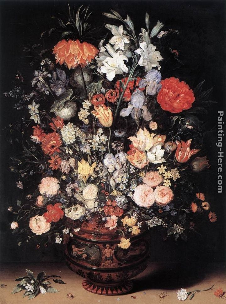 Jan The Elder Brueghel Flowers In A Vase Painting 50 Off