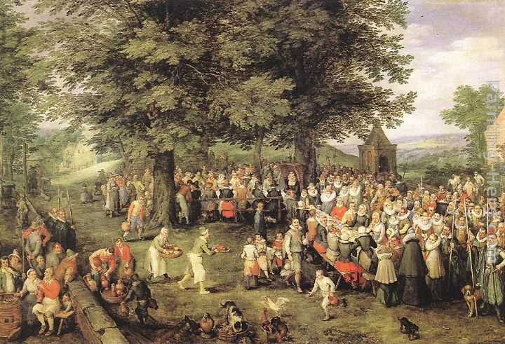 Jan the elder Brueghel Wedding Banquet