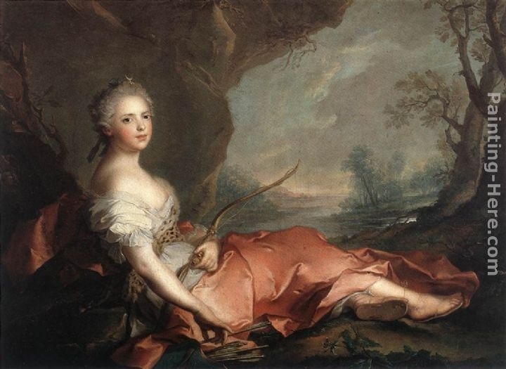 Jean Marc Nattier Marie Adelaide of France as Diana