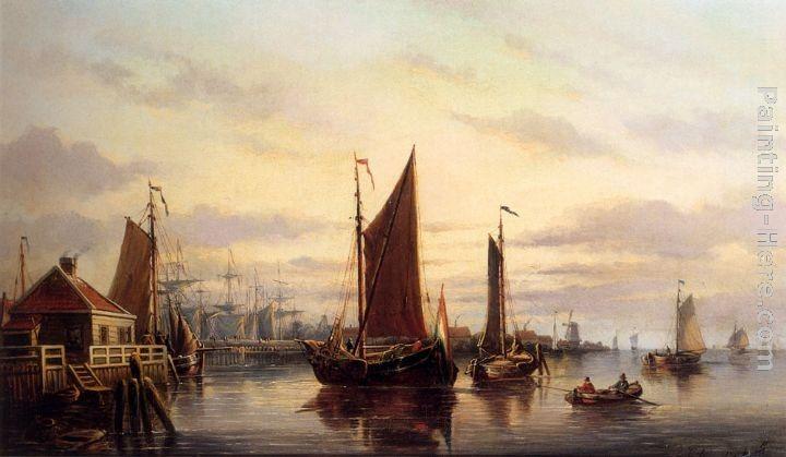 Une régate sur l IJ, Amsterdam de Everhardus Koster