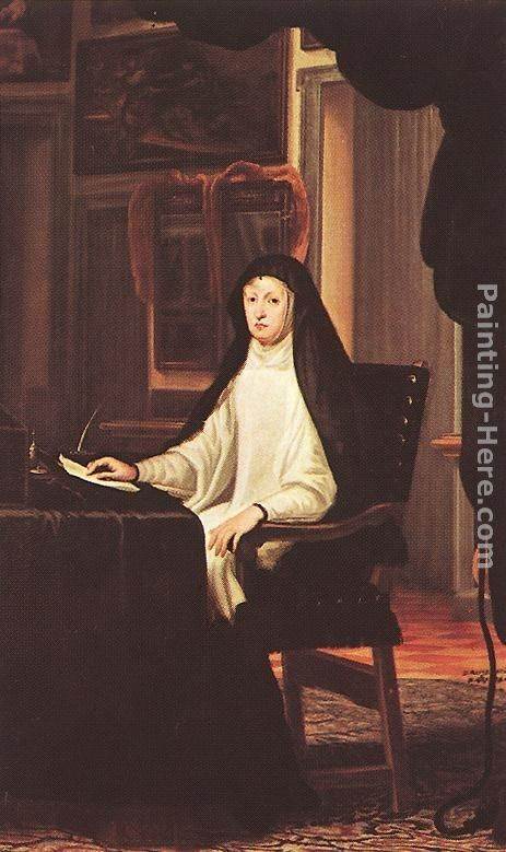 Juan Carreno De Miranda Queen Mary Anne of Austria as a Widow