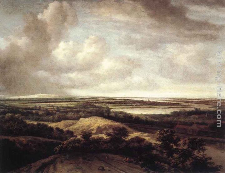 Philips Koninck Panorama View of Dunes and a River