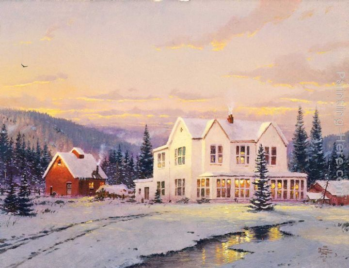 Thomas Kinkade The Lights of Home