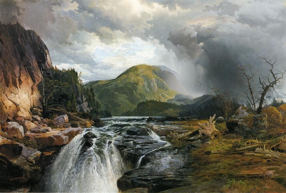 Thomas Moran The Wilds Of Lake Superior Painting Off ArtExpressws - Superior painting