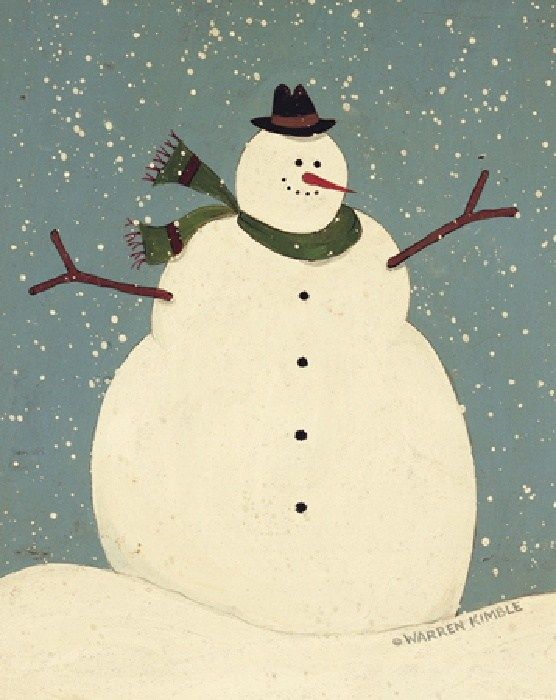 Image gallery snowman paintings for How to paint snowmen