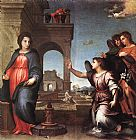 Andrea del Sarto The Annunciation painting