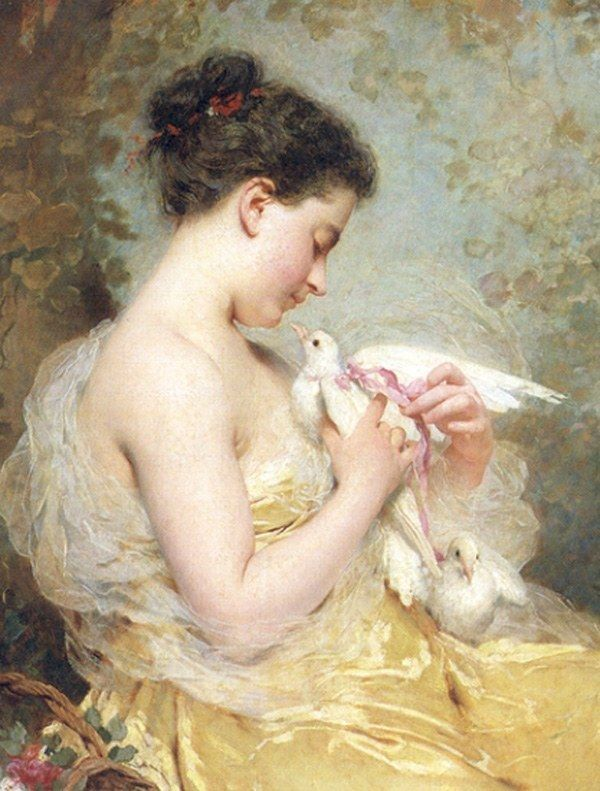 Charles Chaplin A Beauty with Doves
