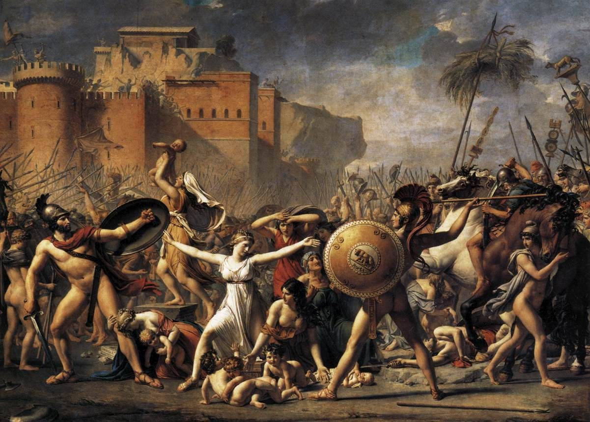 Jacques-Louis David The Intervention of the Sabine Women