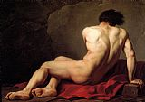 Jacques-Louis David Male Nude known as Patroclus painting