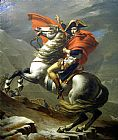 Jacques-Louis David Napoleon at the St. Bernard Pass painting