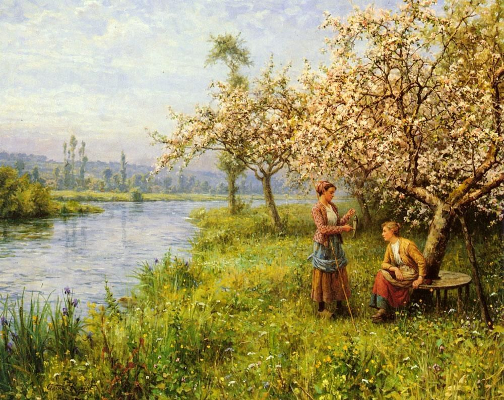Louis Aston Knight Country Women after Fishing on a Summer's Day