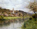 Louis Aston Knight Along the Seine painting