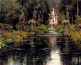 Louis Aston Knight View Of A Chateaux painting
