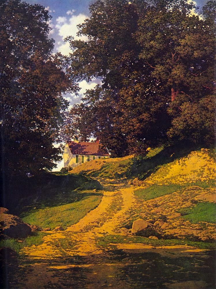 Maxfield Parrish The Country Schoolhouse