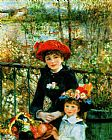 Pierre Auguste Renoir Two Sisters on the Terrace painting
