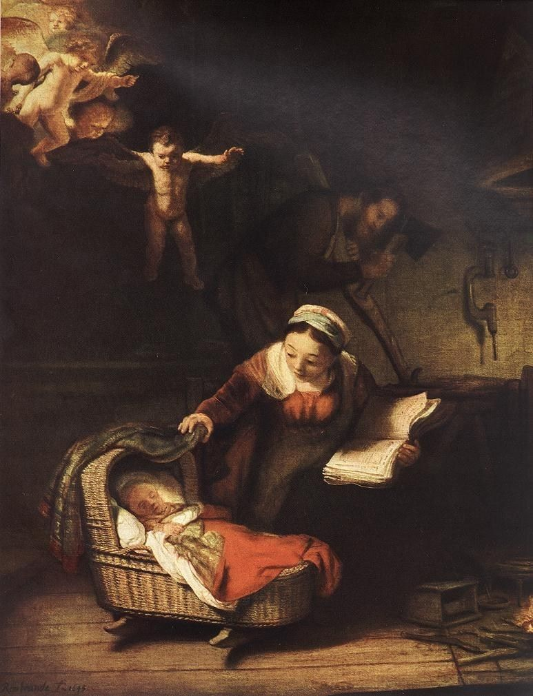 Rembrandt The Holy Family with Angels