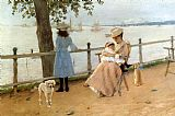 William Merritt Chase Afternoon by the Sea aka Gravesend Bay painting