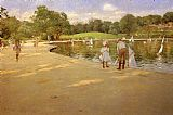 William Merritt Chase The Lake for Miniature Yachts painting